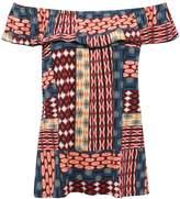 M&Co Aztec print bardot top