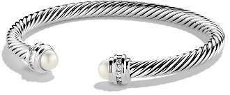 David Yurman Cable Classics Bracelet with Pearl & Diamonds