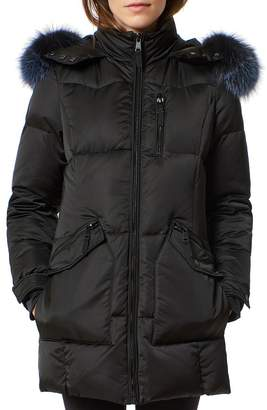 One Madison Fur Trim Puffer Coat
