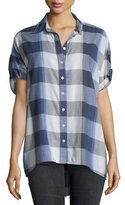 The Great The Big Roll-Sleeve Shirt, Picnic Plaid