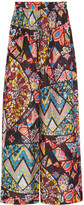 Emilio Pucci Printed hammered-silk wide-leg pants