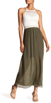 Amy Byer A. Byer Mixed Media Maxi Dress