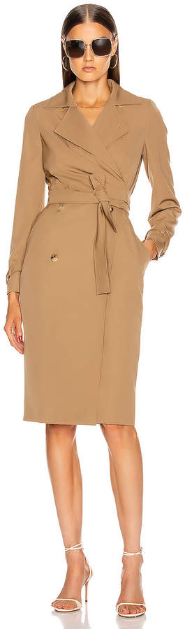 Max Mara Lucia Dress in Camel | FWRD
