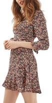Topshop Women's Peach Pop Ruffle Tea Dress