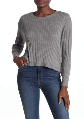 Cotton Emporium Side Button Crew Neck Sweater