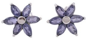 Novica Handmade Iolite flower earrings Ocean Daisy