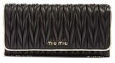 Miu Miu Women's Matelasse Leather Continental Wallet - Black