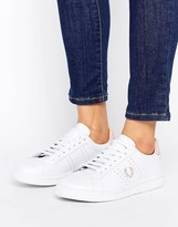 Fred Perry White and Pink Leather Sneakers