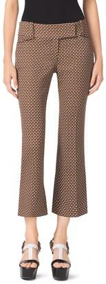 Michael Kors Mini Octagon Cropped Wool Pants
