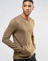 Asos Cotton Sweater with Kangaroo Pocket