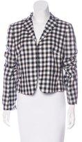 Akris Punto Wool Checkered Blazer