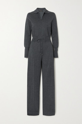 Loro Piana Cashmere And Silk-blend Jumpsuit - Charcoal