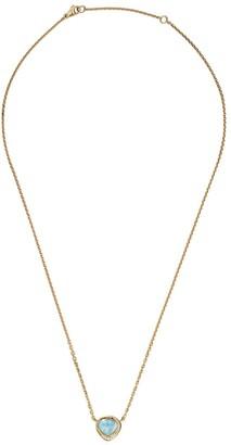 Brooke Gregson 18kt yellow gold diamond opal necklace