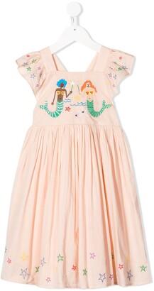 Stella McCartney Mermaids embroidered dress