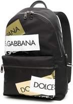 Dolce & Gabbana Nylon Logo Tape Backpack