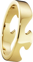 Georg Jensen Fusion End 18ct yellow-gold ring