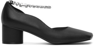 Flat Apartment Black Streamlined Squared Toe Pumps