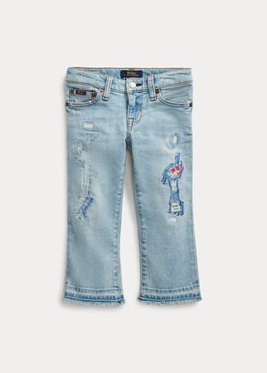 Ralph Lauren Cropped Flare Denim Jean