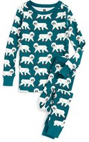 Tea Collection Toddler Boy's Snow Monkey Fitted Two-Piece Pajamas