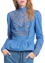 Plenty by Tracy Reese Victorian Lace Peplum Top