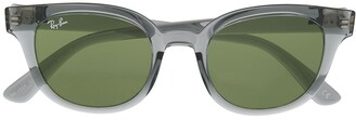 Ray-Ban Transparent Round-Frame Sunglasses