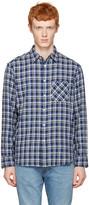 Rag & Bone Blue Check Beach Shirt