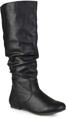 Journee Collection Jayne Ruched Tall Boot - Extra Wide Calf
