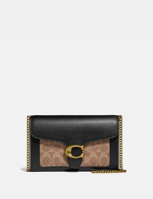 Coach Tabby Chain Clutch In Colorblock Signature Canvas