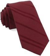 The Tie Bar Burgundy Wool Path Stripe Tie