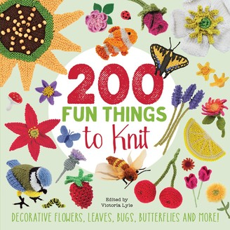 Search Press 200 Fun Things To Knit Pattern Book by Victoria Lyle