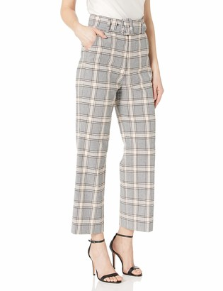 Joie Women's Belted Flare Plaid Pant