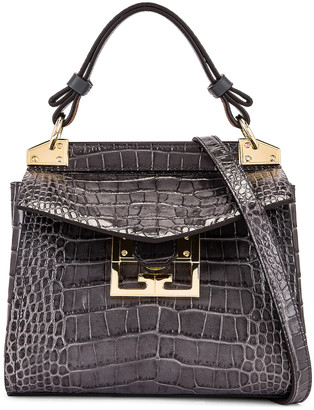 Givenchy Mini Mystic Embossed Croc Bag in Storm Grey | FWRD