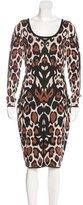 Temperley London Leopard Pattern Knit Dress