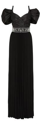 Prada Crystal-Embellished Taffeta Gown