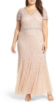 Pisarro Nights Plus Size Women's Sequin Lace A-Line Gown