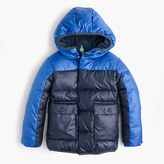 J.Crew Boys' colorblock marshmallow puffer jacket