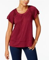 Style&Co. Style & Co Flutter-Sleeve Top, Only at Macy's