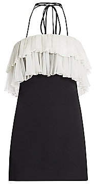 Alexis Women's Banni Choker Ruffle-Trim Mini Dress