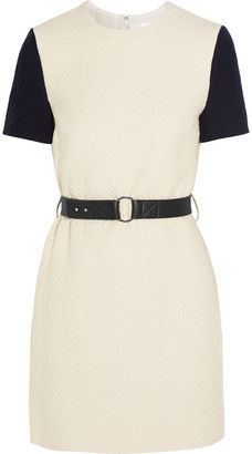 Victoria Victoria Beckham Belted Cloque Mini Dress