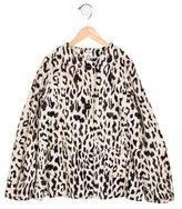 Milly Minis Girls' Faux Fur Leopard Print Jacket