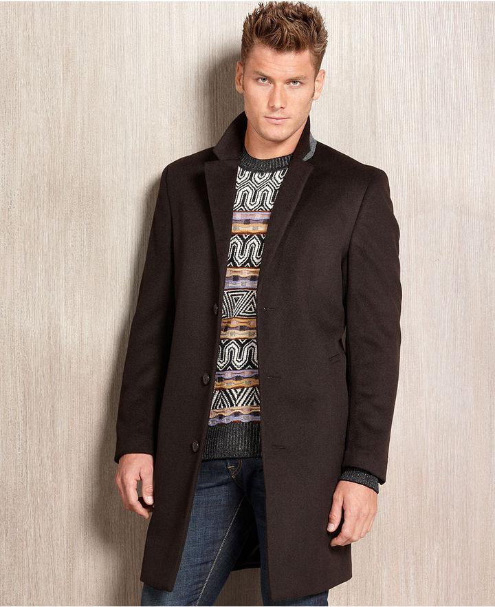 Kenneth Cole Coat, Moretti Wool-Blend Overcoat Modern Fit