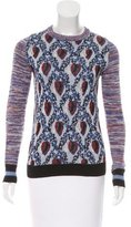 Suno Patterned Crew Neck Sweater