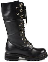 Twin-Set Eyelet Combat Boots