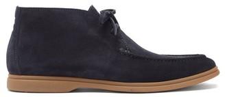 Brunello Cucinelli Suede Desert Boots - Navy