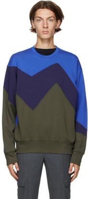 Neil Barrett Black and Khaki Modernist Sweatshirt
