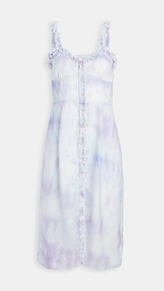 Plush Tie Dye Tank Dress