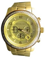 Michael Kors Micheal Kors Gold Stainless Steel with Custom Set Diamonds 2.0 ct 45 mm Watch