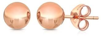 Pori 14k Rose Goldplated Sterling Silver 2mm Ball Stud Earrings