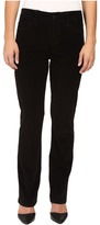 NYDJ Petite Petite Marilyn Straight Jeans in Corduroy in Black