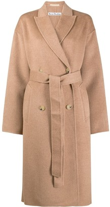 Acne Studios Belted Double-Breasted Coat